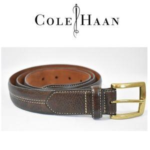 Cole Haan Stitch Brown  Leather Belt